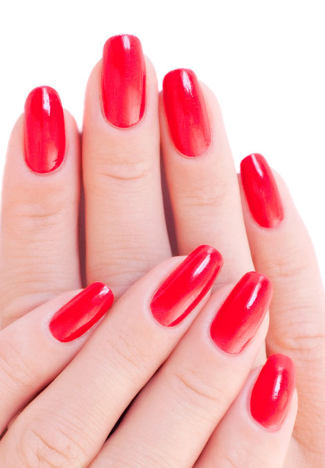 The Perfect Red Manicure For Medium Length Nails Nail Art Gallery